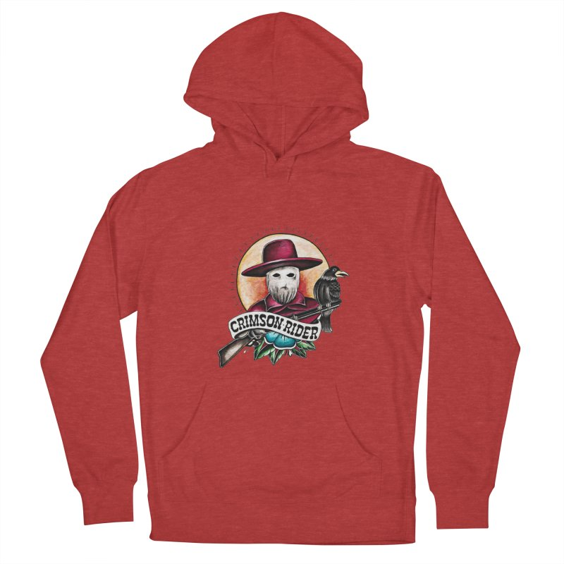 Crimson Rider/Jake Clinton Men's French Terry Pullover Hoody by thebullmoose's Artist Shop