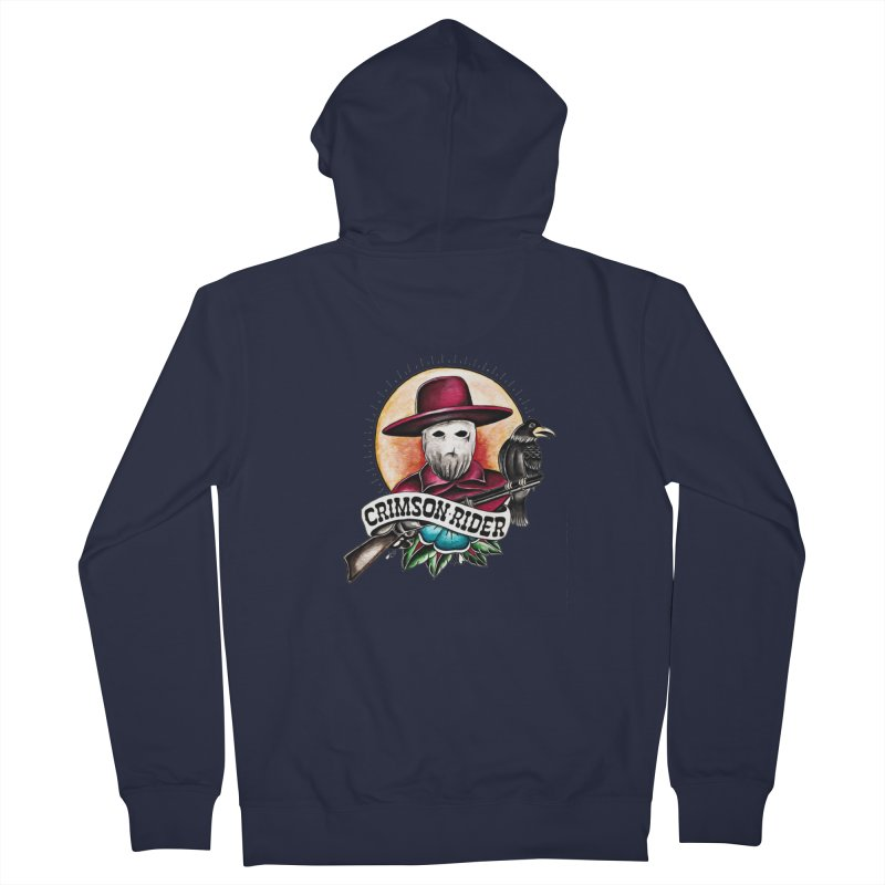 Crimson Rider/Jake Clinton Women's French Terry Zip-Up Hoody by thebullmoose's Artist Shop