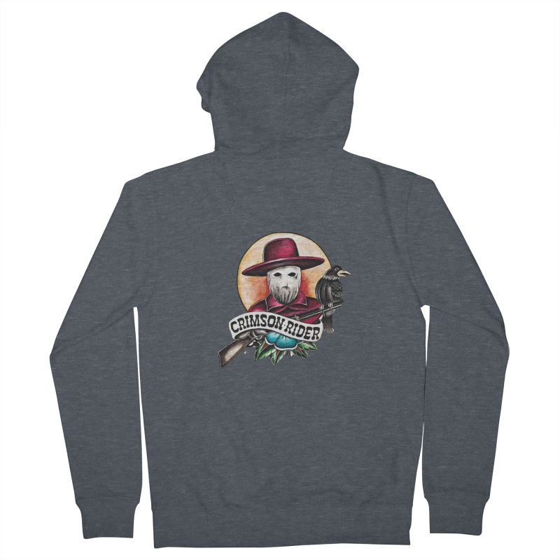 Crimson Rider/Jake Clinton Men's French Terry Zip-Up Hoody by thebullmoose's Artist Shop