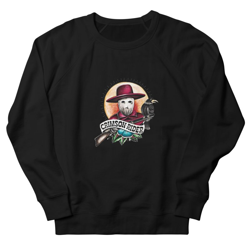 Crimson Rider/Jake Clinton Women's French Terry Sweatshirt by thebullmoose's Artist Shop