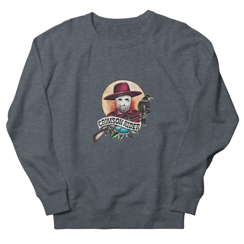 Crimson Rider/Jake Clinton Men's French Terry Sweatshirt by thebullmoose's Artist Shop