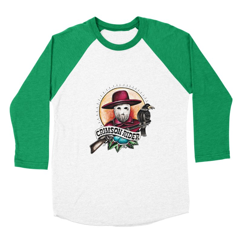 Crimson Rider/Jake Clinton Women's Baseball Triblend Longsleeve T-Shirt by thebullmoose's Artist Shop