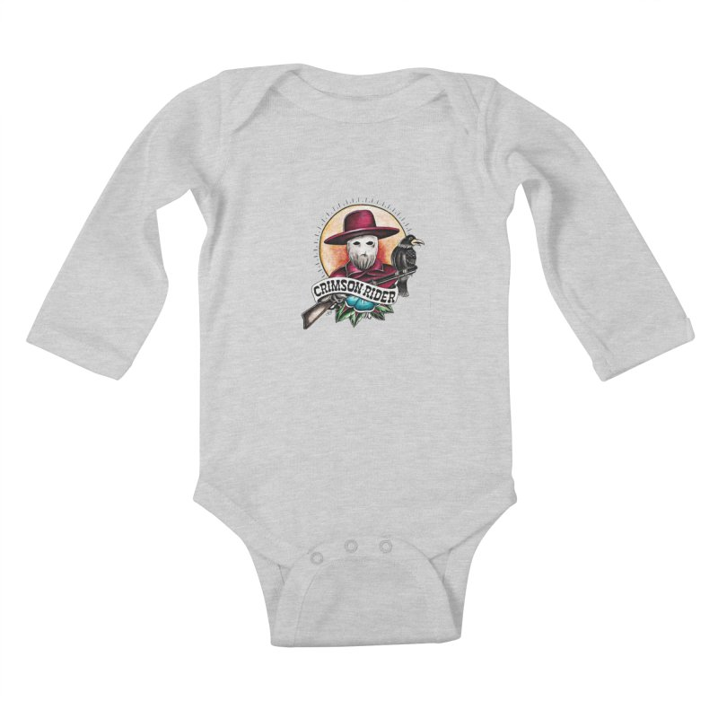 Crimson Rider/Jake Clinton Kids Baby Longsleeve Bodysuit by thebullmoose's Artist Shop