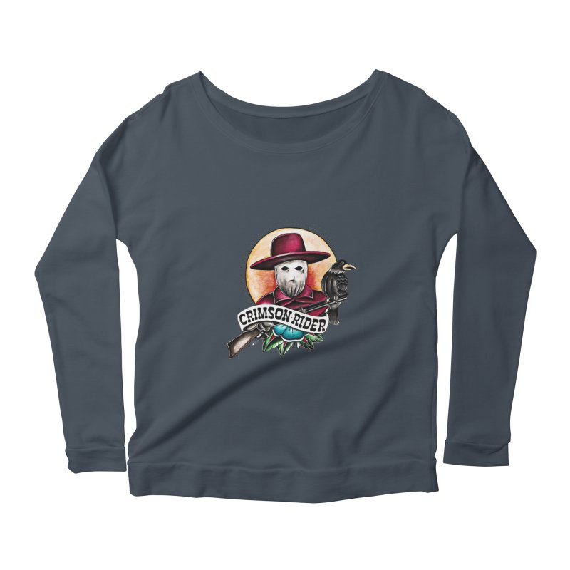 Crimson Rider/Jake Clinton Women's Scoop Neck Longsleeve T-Shirt by thebullmoose's Artist Shop