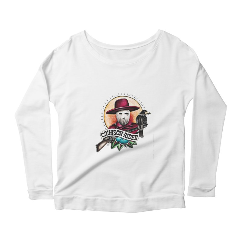 Crimson Rider/Jake Clinton Women's Scoop Neck Longsleeve T-Shirt by thebullmoose's Artist Shop