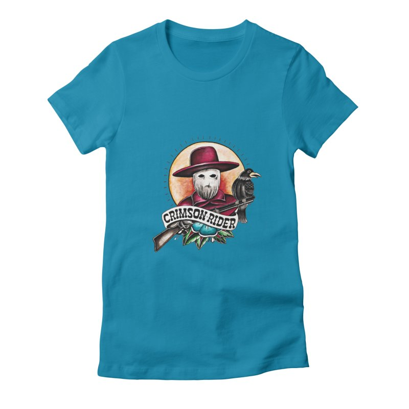 Crimson Rider/Jake Clinton Women's Fitted T-Shirt by thebullmoose's Artist Shop