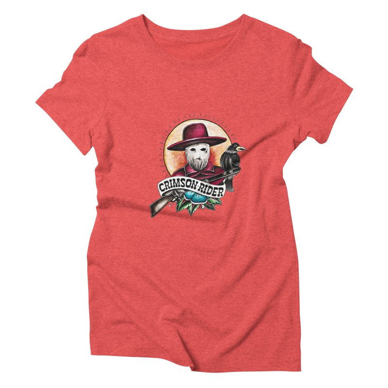 Crimson Rider/Jake Clinton Women's Triblend T-Shirt by thebullmoose's Artist Shop