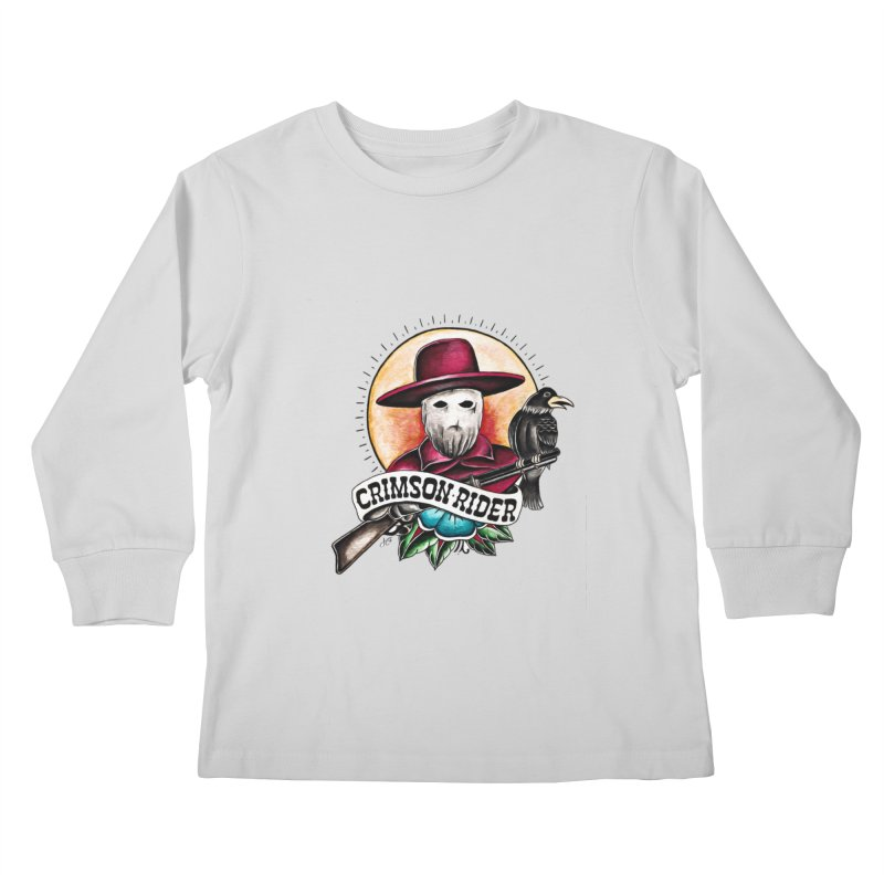 Crimson Rider/Jake Clinton Kids Longsleeve T-Shirt by thebullmoose's Artist Shop