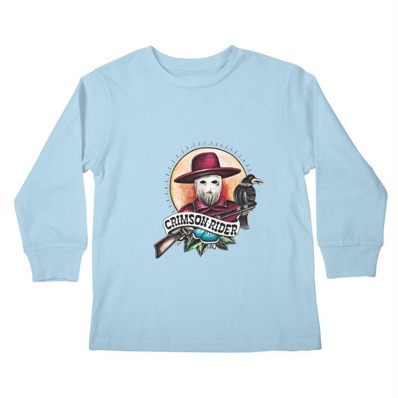 Crimson Rider/Jake Clinton Kids Longsleeve T-Shirt by thebullmoose's Artist Shop