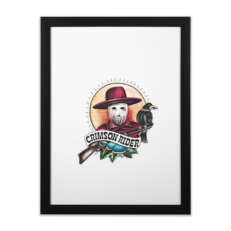 Crimson Rider/Jake Clinton Home Framed Fine Art Print by thebullmoose's Artist Shop