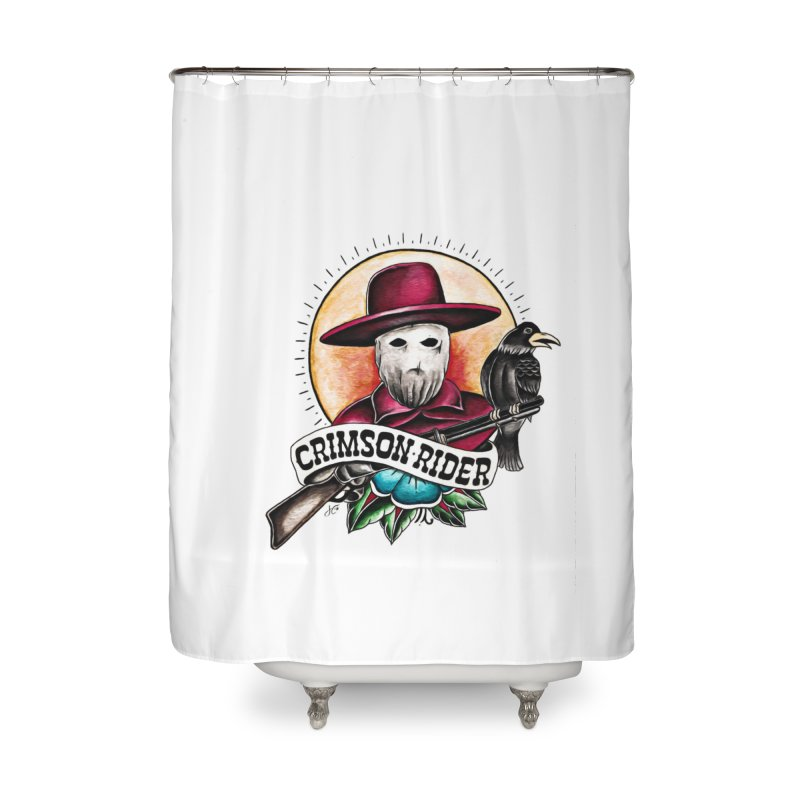 Crimson Rider/Jake Clinton Home Shower Curtain by thebullmoose's Artist Shop