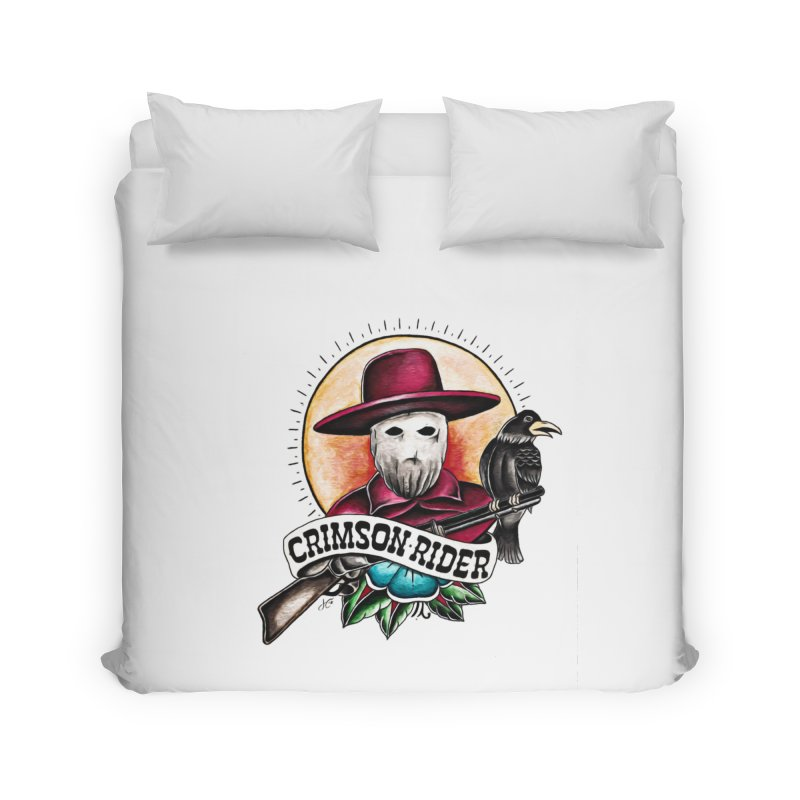 Crimson Rider/Jake Clinton Home Duvet by thebullmoose's Artist Shop