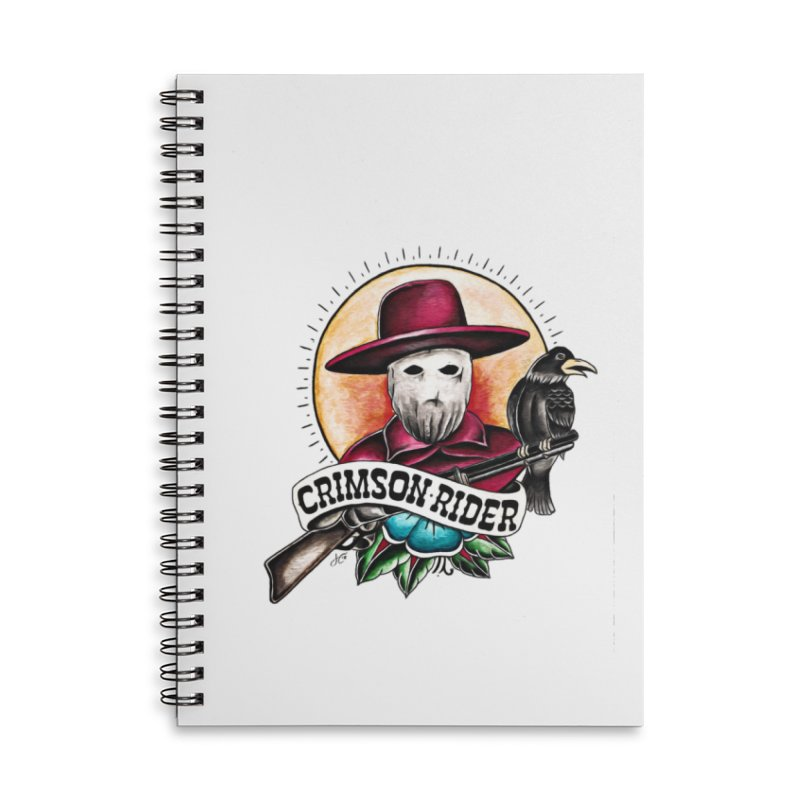 Crimson Rider/Jake Clinton Accessories Lined Spiral Notebook by thebullmoose's Artist Shop