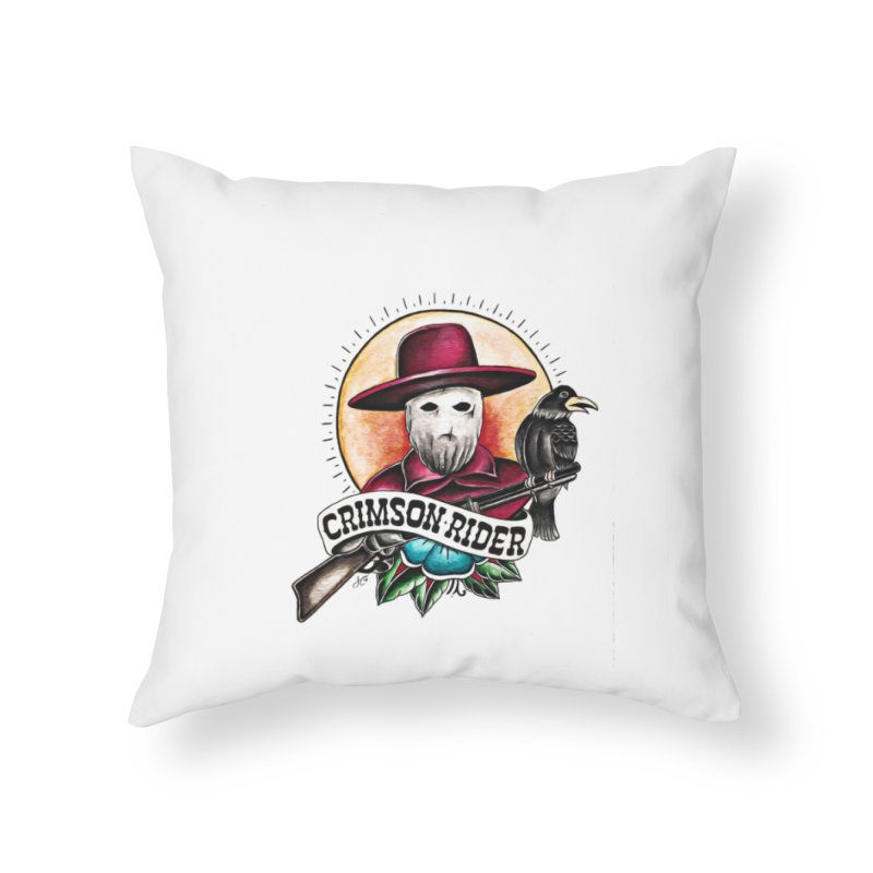 Crimson Rider/Jake Clinton Home Throw Pillow by thebullmoose's Artist Shop