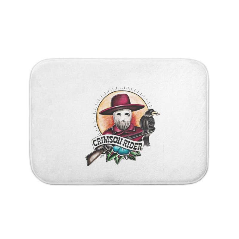 Crimson Rider/Jake Clinton Home Bath Mat by thebullmoose's Artist Shop