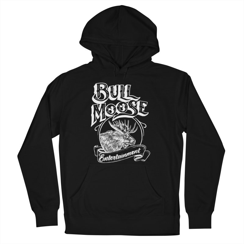 Bull Moose Logo - For Darks Women's French Terry Pullover Hoody by thebullmoose's Artist Shop