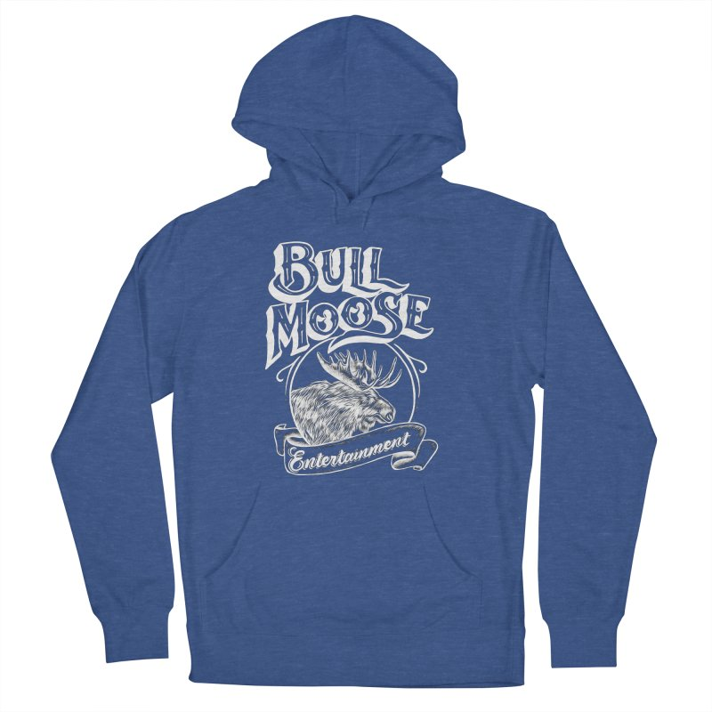 Bull Moose Logo - For Darks Men's French Terry Pullover Hoody by thebullmoose's Artist Shop