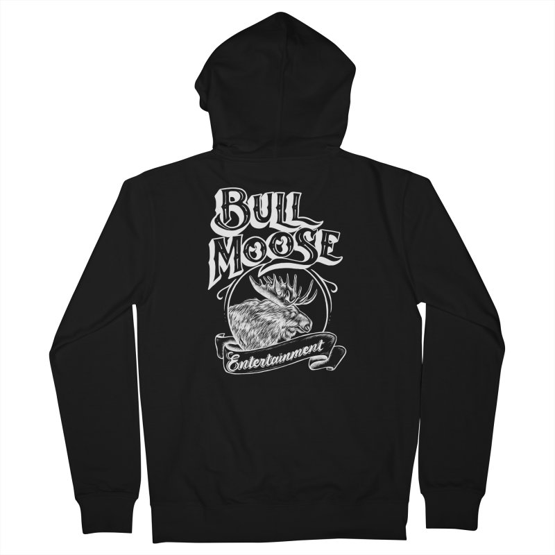 Bull Moose Logo - For Darks Women's French Terry Zip-Up Hoody by thebullmoose's Artist Shop
