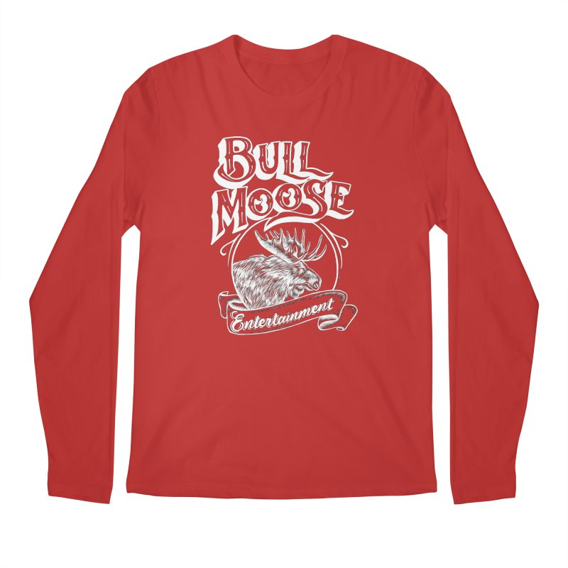 Bull Moose Logo - For Darks Men's Regular Longsleeve T-Shirt by thebullmoose's Artist Shop
