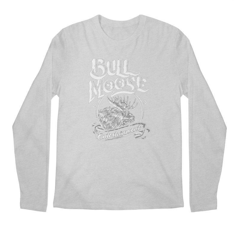 Bull Moose Logo - For Darks Men's Regular Longsleeve T-Shirt by thebullmoose's Artist Shop