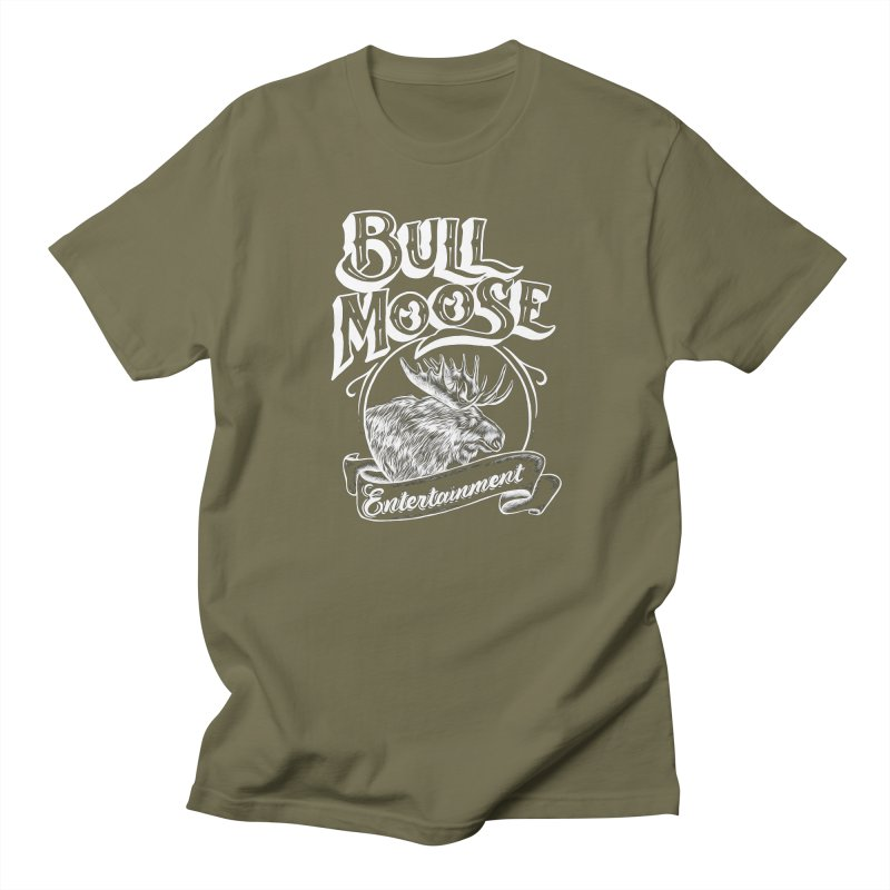 Bull Moose Logo - For Darks Men's Regular T-Shirt by thebullmoose's Artist Shop