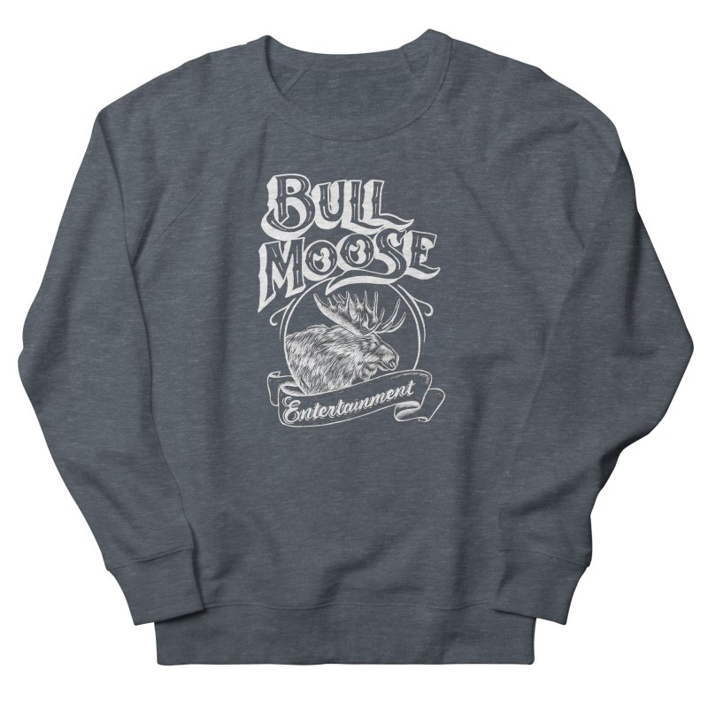 Bull Moose Logo - For Darks Men's French Terry Sweatshirt by thebullmoose's Artist Shop