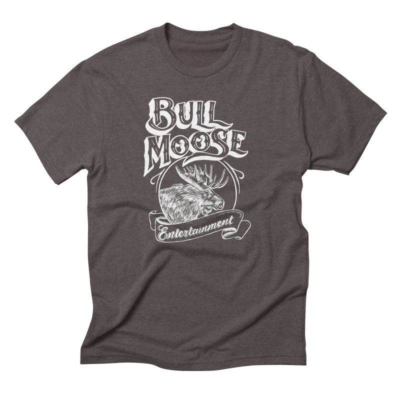 Bull Moose Logo - For Darks Men's Triblend T-Shirt by thebullmoose's Artist Shop