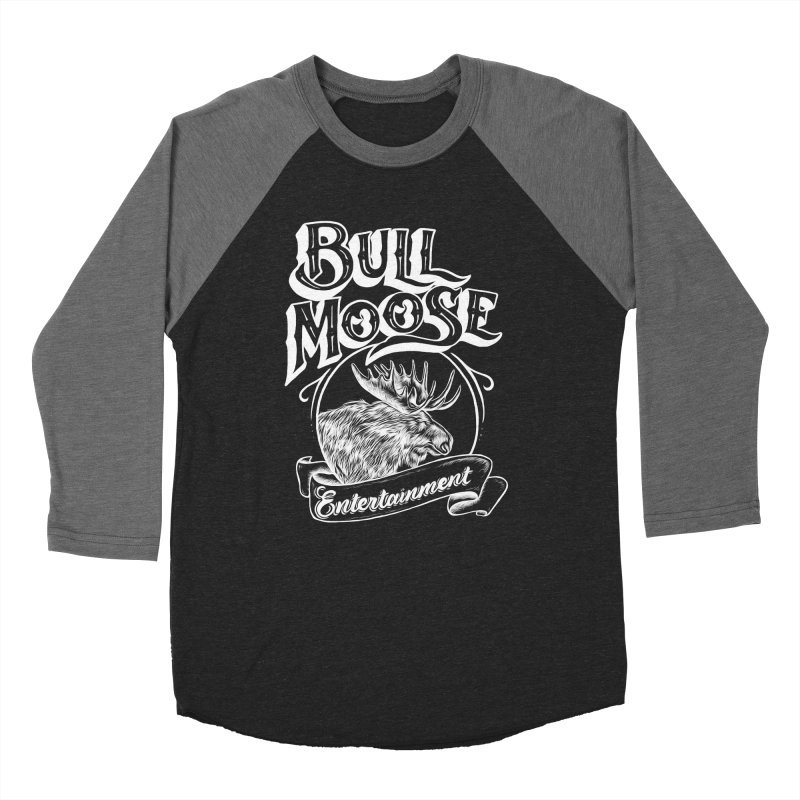 Bull Moose Logo - For Darks Women's Baseball Triblend Longsleeve T-Shirt by thebullmoose's Artist Shop