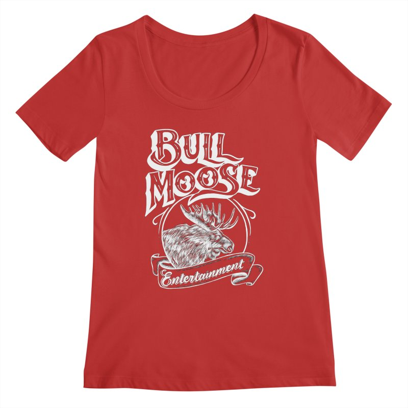 Bull Moose Logo - For Darks Women's Regular Scoop Neck by thebullmoose's Artist Shop