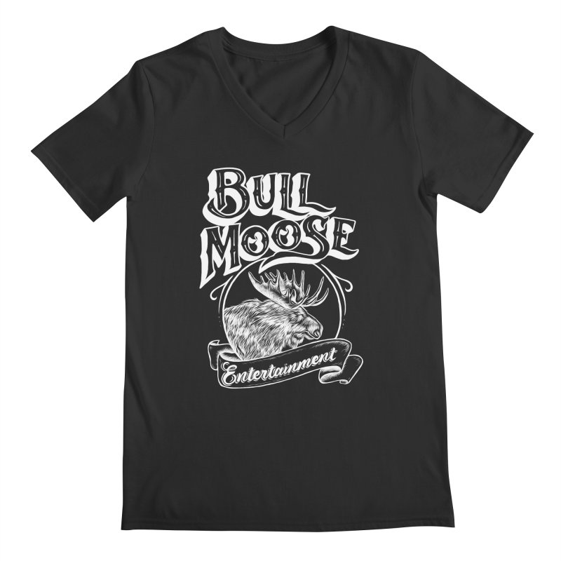 Bull Moose Logo - For Darks Men's Regular V-Neck by thebullmoose's Artist Shop