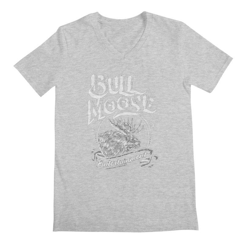 Bull Moose Logo - For Darks Men's Regular V-Neck by thebullmoose's Artist Shop