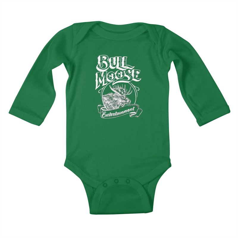 Bull Moose Logo - For Darks Kids Baby Longsleeve Bodysuit by thebullmoose's Artist Shop
