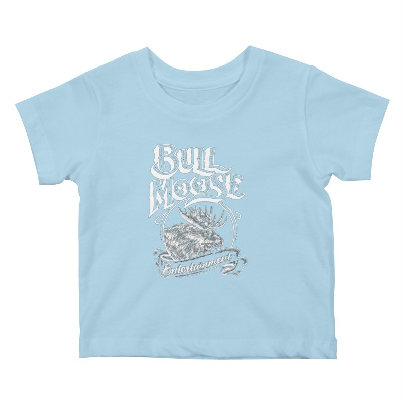 Bull Moose Logo - For Darks Kids Baby T-Shirt by thebullmoose's Artist Shop