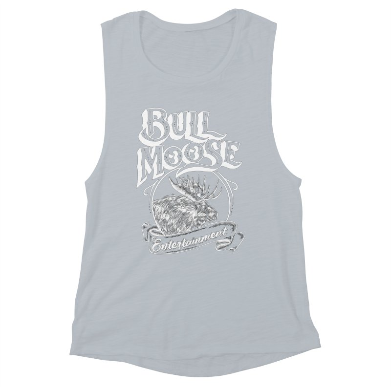 Bull Moose Logo - For Darks Women's Muscle Tank by thebullmoose's Artist Shop