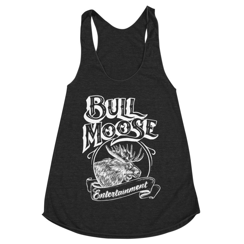 Bull Moose Logo - For Darks Women's Racerback Triblend Tank by thebullmoose's Artist Shop