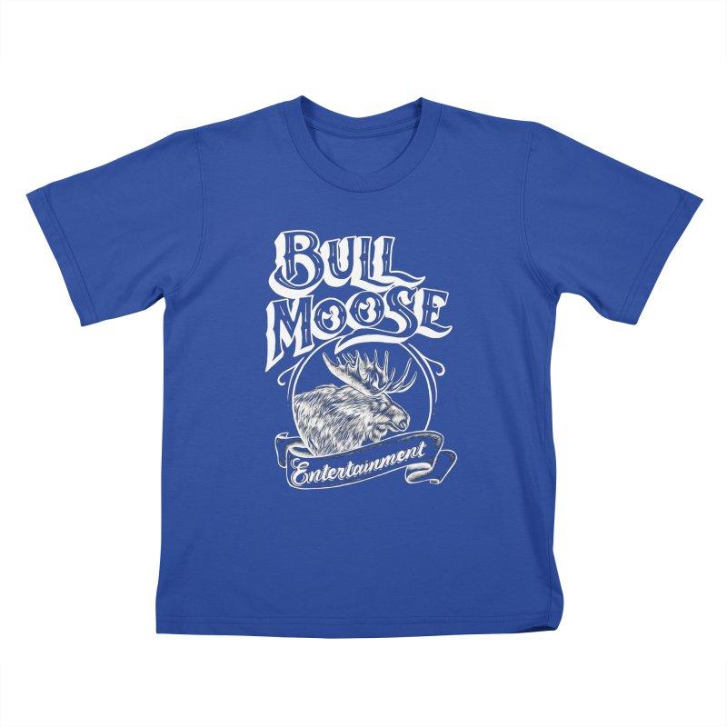 Bull Moose Logo - For Darks Kids T-Shirt by thebullmoose's Artist Shop