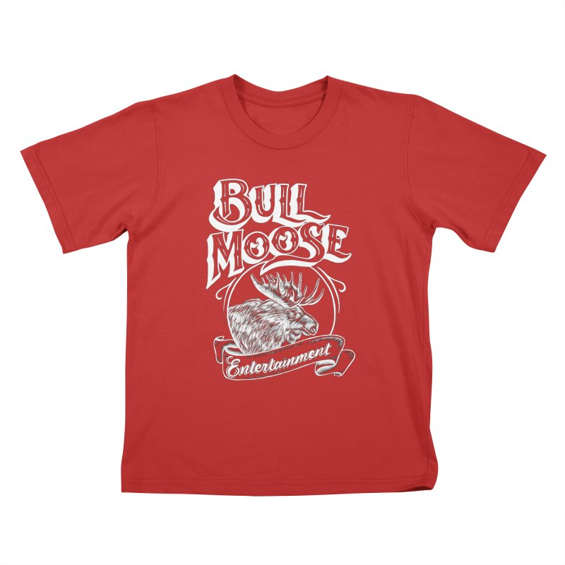 Bull Moose Logo - For Darks Kids T-Shirt by thebullmoose's Artist Shop