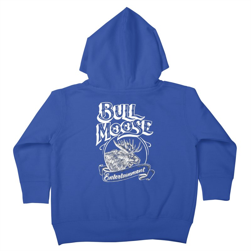 Bull Moose Logo - For Darks Kids Toddler Zip-Up Hoody by thebullmoose's Artist Shop