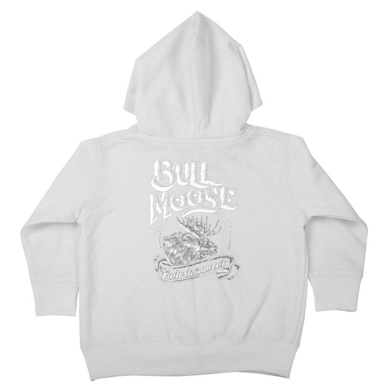 Bull Moose Logo - For Darks Kids Toddler Zip-Up Hoody by thebullmoose's Artist Shop