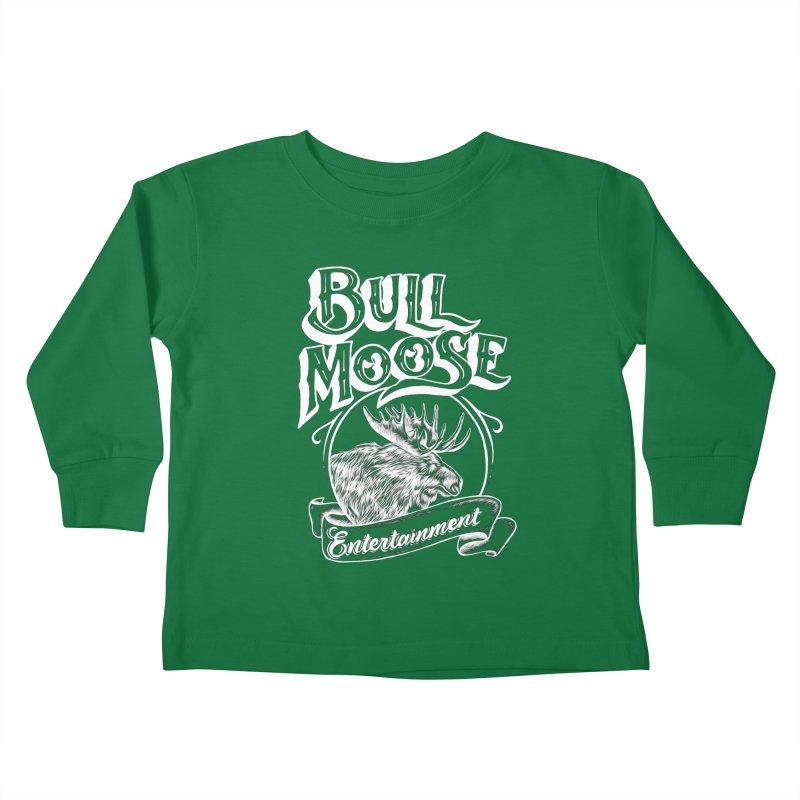 Bull Moose Logo - For Darks Kids Toddler Longsleeve T-Shirt by thebullmoose's Artist Shop