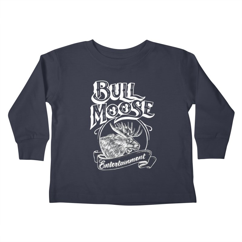 Bull Moose Logo - For Darks Kids Toddler Longsleeve T-Shirt by thebullmoose's Artist Shop