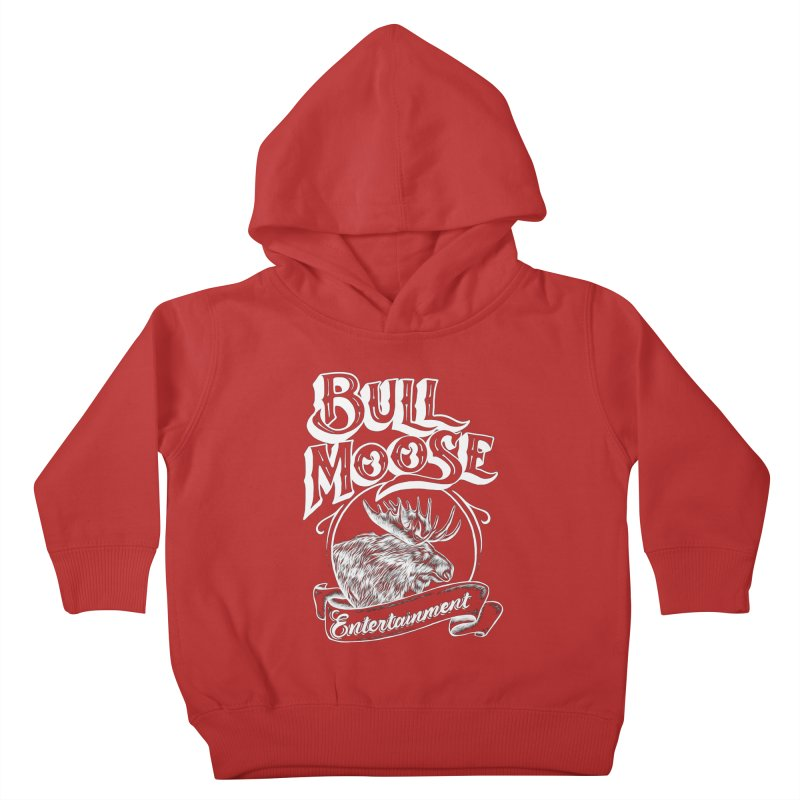 Bull Moose Logo - For Darks Kids Toddler Pullover Hoody by thebullmoose's Artist Shop
