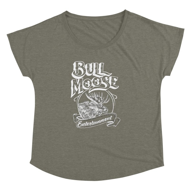 Bull Moose Logo - For Darks Women's Dolman Scoop Neck by thebullmoose's Artist Shop