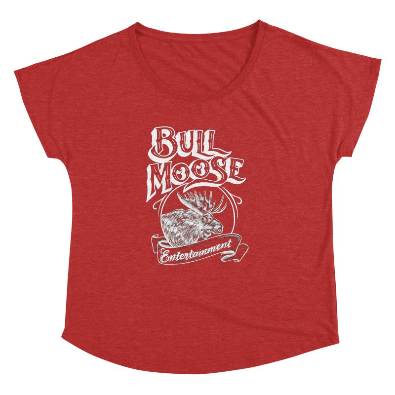 Bull Moose Logo - For Darks Women's Dolman Scoop Neck by thebullmoose's Artist Shop