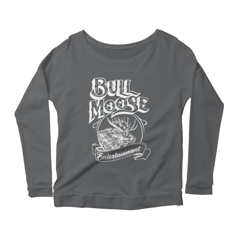Bull Moose Logo - For Darks Women's Scoop Neck Longsleeve T-Shirt by thebullmoose's Artist Shop
