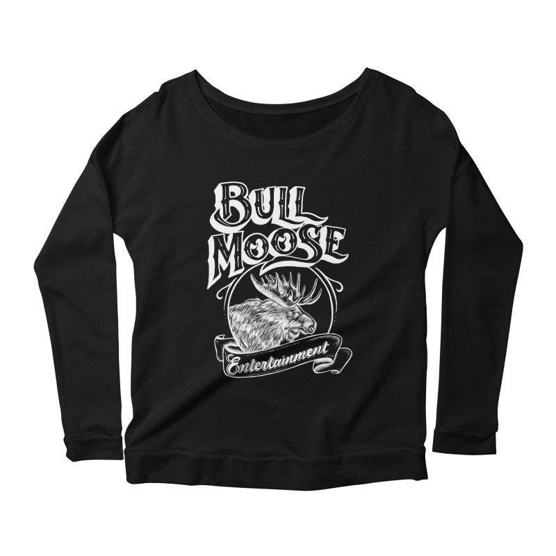 Bull Moose Logo - For Darks Women's Scoop Neck Longsleeve T-Shirt by thebullmoose's Artist Shop