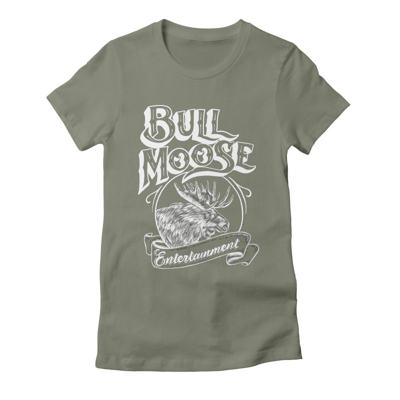 Bull Moose Logo - For Darks Women's Fitted T-Shirt by thebullmoose's Artist Shop