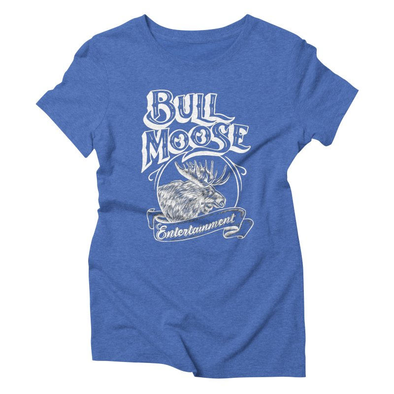 Bull Moose Logo - For Darks Women's Triblend T-Shirt by thebullmoose's Artist Shop