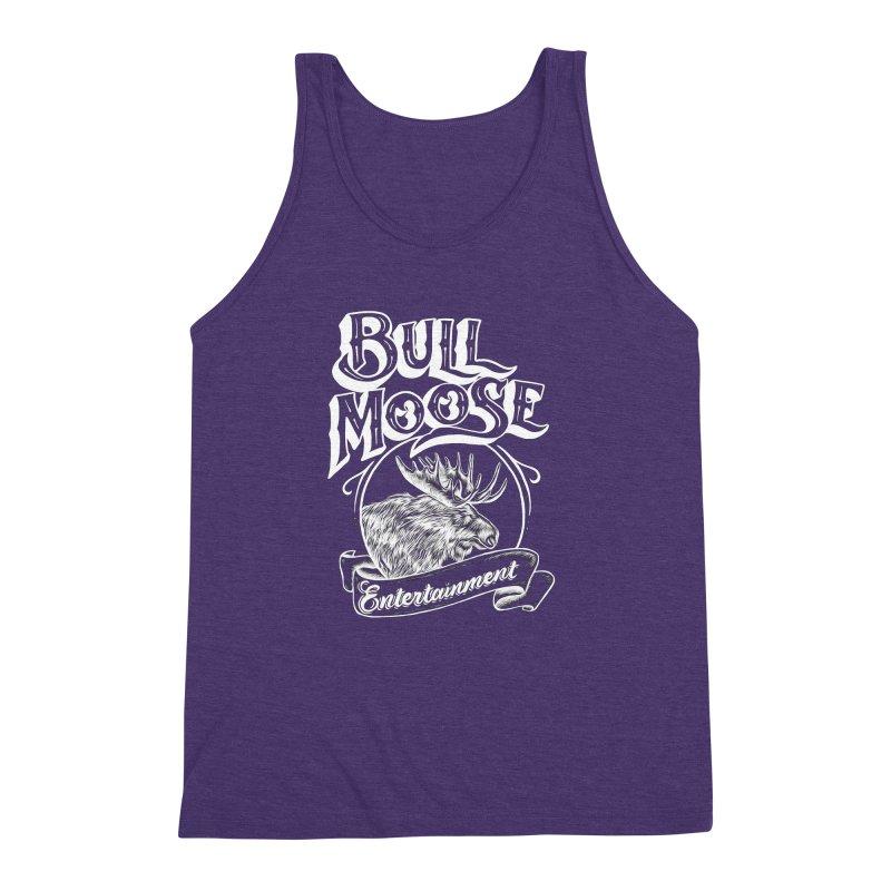 Bull Moose Logo - For Darks Men's Triblend Tank by thebullmoose's Artist Shop