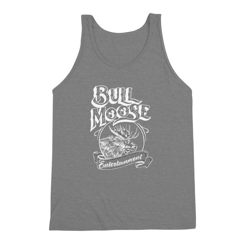 Bull Moose Logo - For Darks Men's Triblend Tank by thebullmoose's Artist Shop